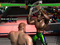 Using a chair against an opponent in the ring in Hulk Hogan's Main Event