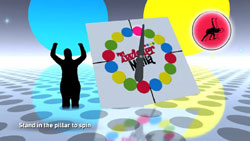 Spinning the spinner in Twister Mania