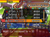 RPG style ability leveling in Solatorobo: Red the Hunter