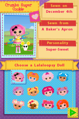 Choosing your Lalaloopsy doll in Lalaloopsy