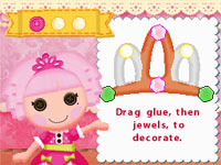 Craft-making activity in Lalaloopsy