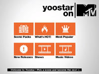 Yoostar on MTV game menu