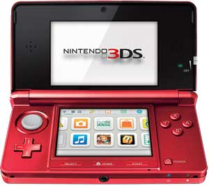 An open Nintendo 3DS - Aqua Blue
