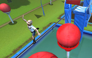 Catching some air on the Big Balls in Wipeout 2