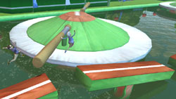 A spinning obstacle from Wipeout 2
