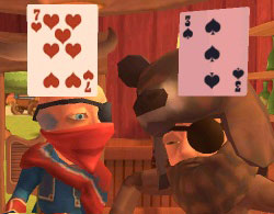 Western themed card game from Carnival Games: Wild West 3D