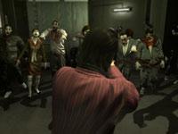 Shun Akiyama standing alone against a phalanx of advancing zombies in Yakuza: Dead Souls