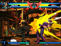 Frank West against Hawkeye in Ultimate Marvel vs Capcom 3 for PS Vita