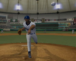 Looking into an oncoming pitch in Major League Baseball 2K12 for Wii