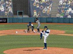 Pitching from the stretch in Major League Baseball 2K12 for DS