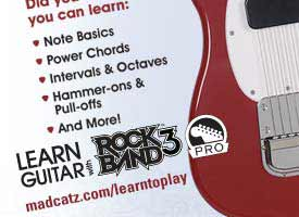 Play For Real with Rock Band 3 - Interactive Guitar Lessons