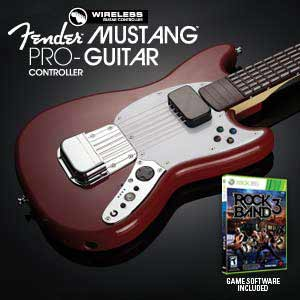 Rock Band 3 Wireless Fender Mustang PRO-Guitar Controller with Game Software and Bonus Red Hot Chili Peppers DLC