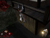 Creeping along a wall to get at an enemy in Shinobido 2: Revenge of Zen