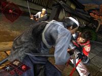 Battling multiple enemies in Shinobido 2: Revenge of Zen
