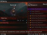 Alchemy status screen from Shinobido 2: Revenge of Zen