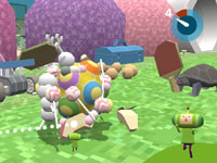Wacky ping-pong action in Touch My Katamari