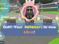 Words of encouragement from the King of All Cosmos in Touch My Katamari