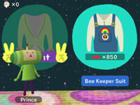 Customization through in-game shopping in Touch My Katamari
