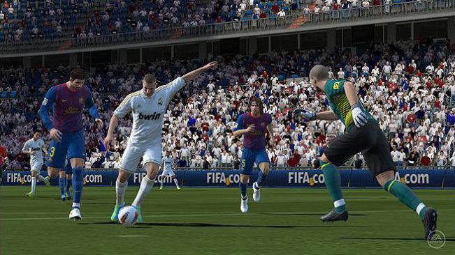 Real Madrid striker Kamim Benzema in EA Sports FIFA Soccer