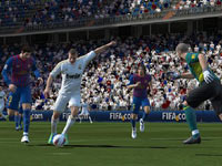 Real Madrid striker Kamim Benzema in EA Sports FIFA Soccer