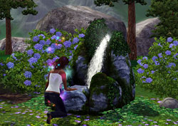 The Fountain of Youth gameplay object from The Sims 3: Hidden Springs