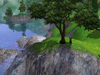 A dramatic landscape from The Sims 3: Hidden Springs