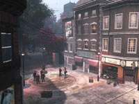 A modern Earth city gameplay environment from The Secret World