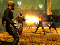 Two societies battling it out in multiplayer action in The Secret World