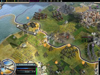 Screen showing the use of early aircraft in Sid Meier's Civilization V: Gods and Kings