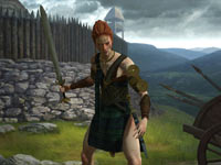 Celtic leader Boudicca from Sid Meier's Civilization V: Gods and Kings