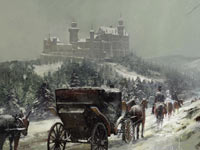 A snow covered cutscene from a European campaign in Sid Meier's Civilization V: Gods and Kings