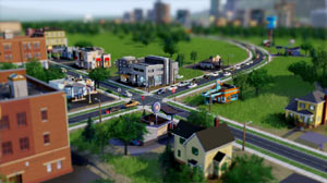 A green community outside a metro area in SimCity
