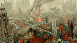 An urban industrial setting from SimCity