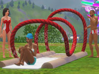 A Candyland red licorice watersilde from The Sims 3: Katy Perry Sweet Treats