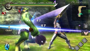 Unleashing a devastating combo against an attacking giant in Ragnarok Odyssey