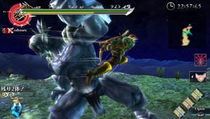 An example of the fluid, airborne moves possible through the battle system of Ragnarok Odyssey
