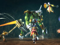 A 4-player co-op screenshot from Ragnarok Odyssey