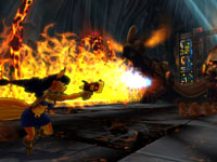 A boss battle in Sly Cooper: Thieves in Time for PS Vita