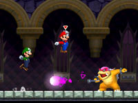 A co-op gameplay screen from New Super Mario Bros 2
