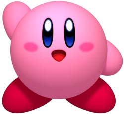 Kirby waving to you from the Kirby's Dream Collection