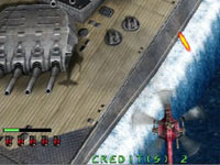 Engaging a battleship at point blank range in Under Defeat HD Deluxe Edition