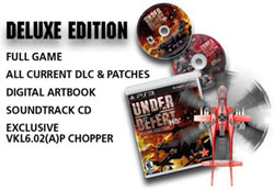 The contents of the Under Defeat HD Deluxe Edition