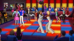 Sims from all eras in the disco in The Sims 3 70s, 80s and 90s Stuff