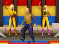 Working it in some parachute pants and leotards in The Sims 3 70s, 80s and 90s Stuff