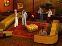 Groovy 70s era funishings from The Sims 3 70s, 80s and 90s Stuff