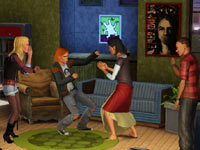 A Grunge Rock party from Sims in The Sims 3 70s, 80s and 90s Stuff
