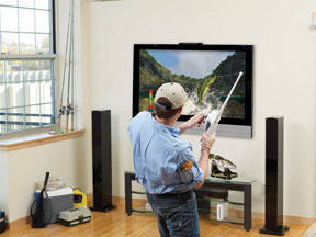 Bass pro shops the strike bundle with fishing for Wii fishing rod