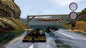 Boat Racing across huge lakes