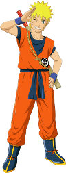 Naruto in Goku costume
