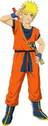 Naruto in Goku costume
